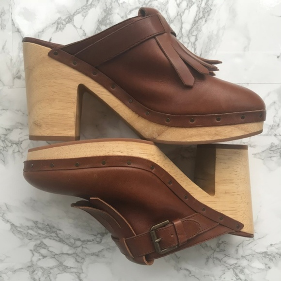 17124a7e248 Madewell Shoes - Madewell Women Clog Cognac The Classic Leather 10